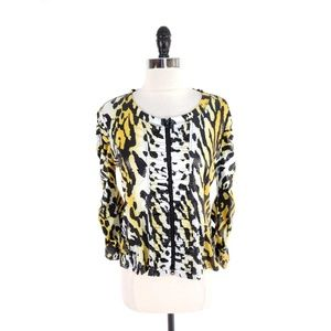 Clara Sun Woo Pleated Textured Jaguar Jacket